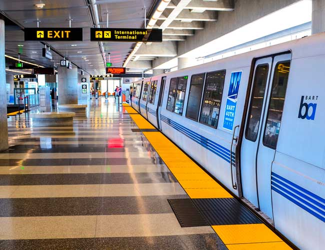 The BART at San Francisco Airport (SFO) is the best way to get to downtown.