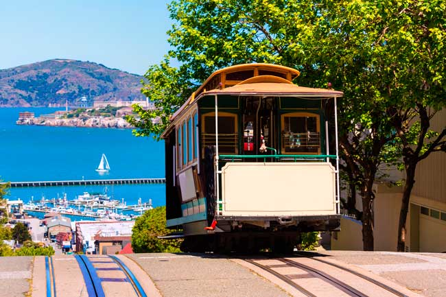 Cable cars are probably the most iconic way of transportation to move through San Francisco.